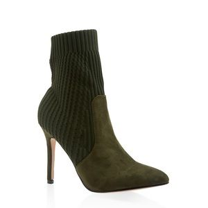 Shoes - Olive army green sock booties